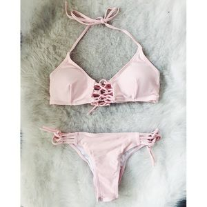 Free People lace-up swimsuit size S.